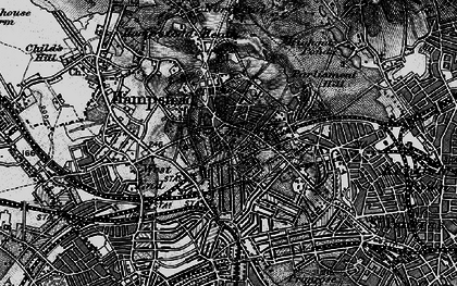 Old map of Hampstead in 1896