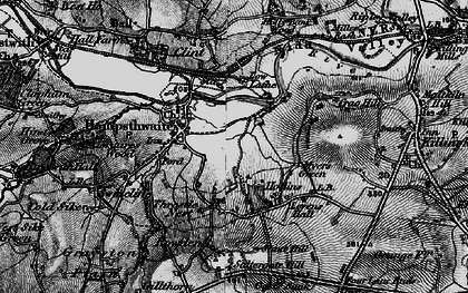 Old map of Hampsthwaite in 1898