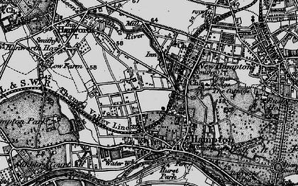 Old map of Hampton in 1896