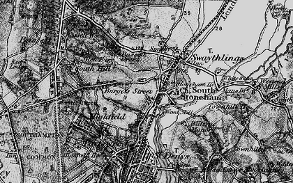 Old map of Woodmill in 1895
