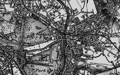 Old map of Hampton Wick in 1896