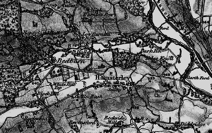 Old map of Linburn Beck in 1897