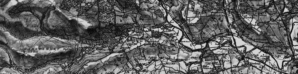 Old map of Hamsterley in 1897