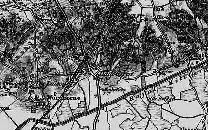 Old map of Hamstreet in 1895