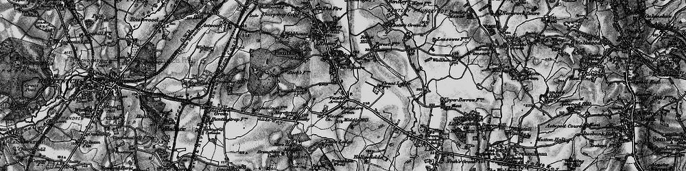 Old map of Hanbury in 1898