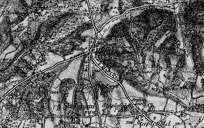 Old map of Handcross in 1895
