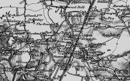 Old map of Handforth in 1896