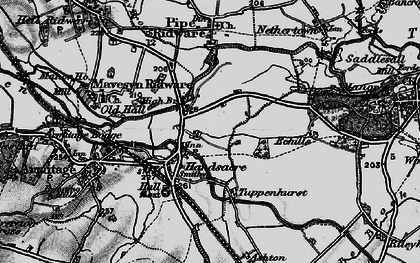 Old map of Handsacre in 1898