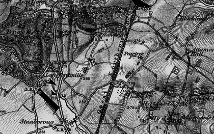 Old map of Handside in 1896