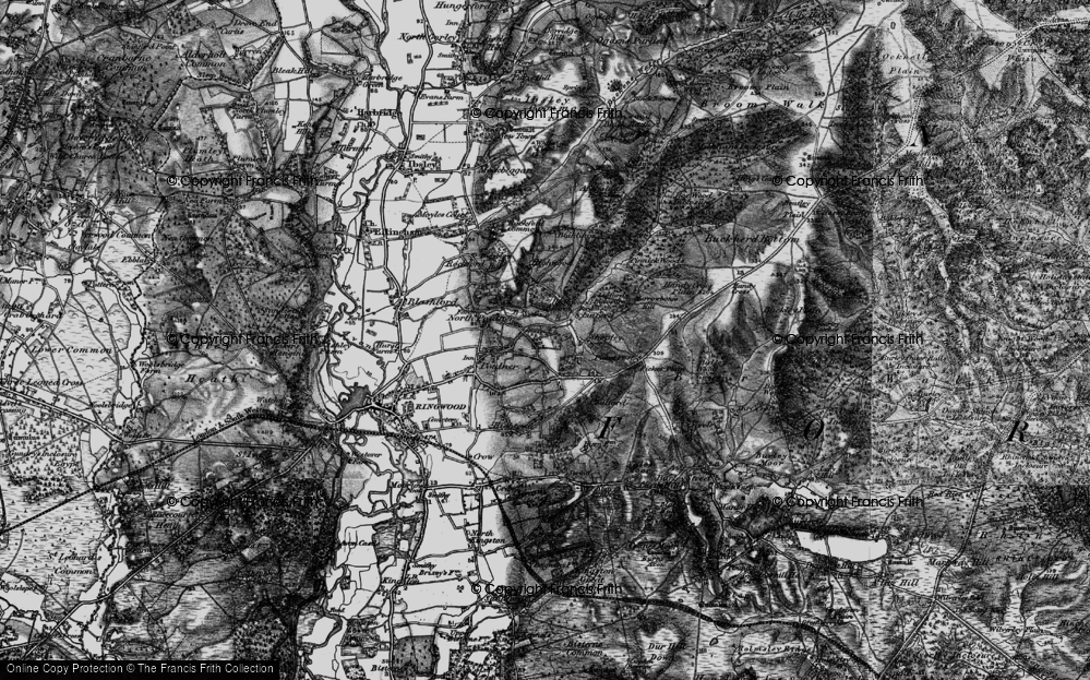 Old Map of Hangersley, 1895 in 1895