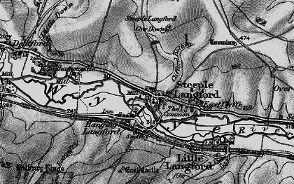 Old map of Ballington Manor in 1898