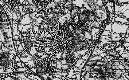 Old map of Hanley in 1897