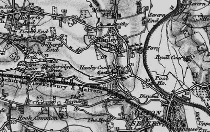 Old map of Hanley Castle in 1898