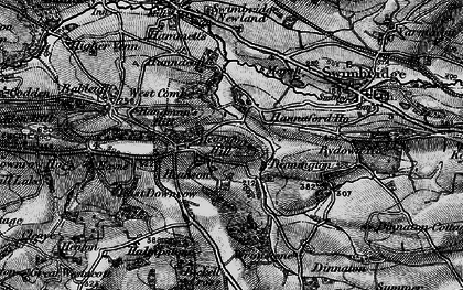 Old map of Wrimstone in 1898