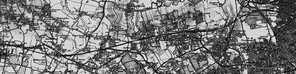 Old map of Hanwell in 1896