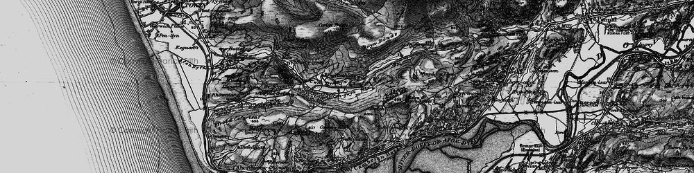 Old map of Afon Dyffryn-gwyn in 1899