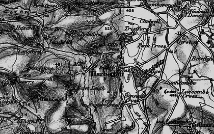Old map of Harberton in 1898