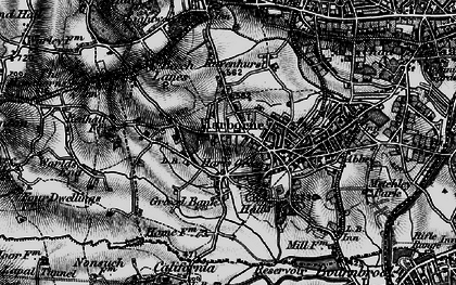 Old map of Harborne in 1899