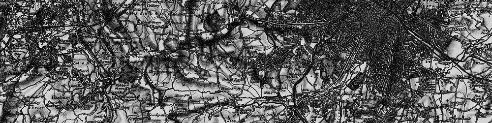 Old map of Harborne in 1899