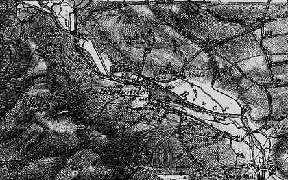 Old map of Harbottle in 1897