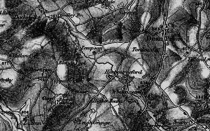 Old map of Zempson in 1898