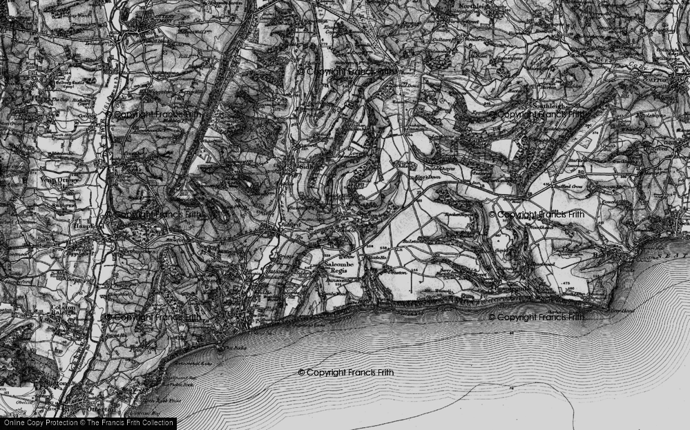 Old Map of Harcombe, 1897 in 1897