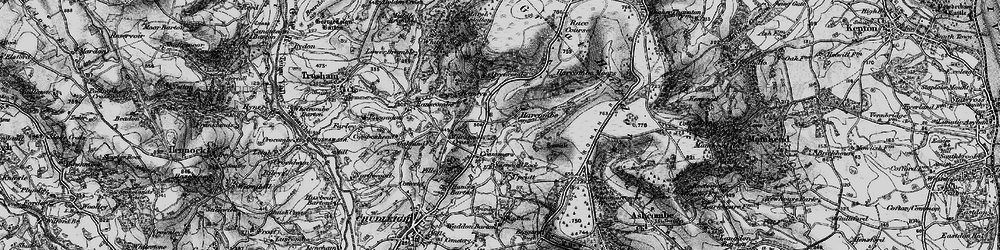 Old map of Whiteway Ho in 1898