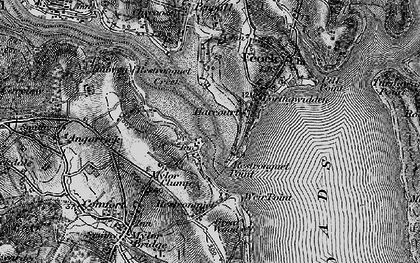 Old map of Harcourt in 1895