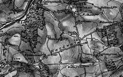 Old map of Leland Trail in 1898