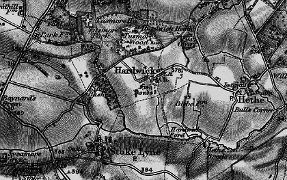 Old map of Lime Kiln Hovel in 1896