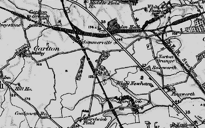 Old map of Hardwick in 1898