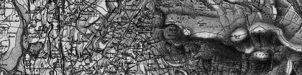 Old map of Windy Clough in 1898