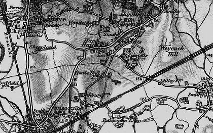 Old map of Hare Hatch in 1895