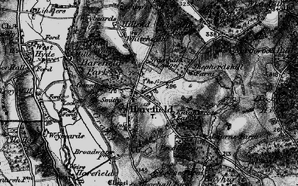 Old map of Harefield in 1896