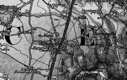 Old map of Haresfield in 1896