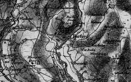 Old map of Harford in 1898