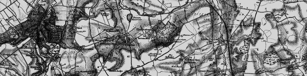 Old map of Harlaxton in 1899