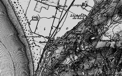 Old map of Harlech in 1899
