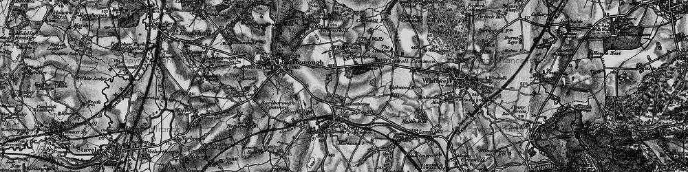 Old map of Whitebrick Moor in 1896