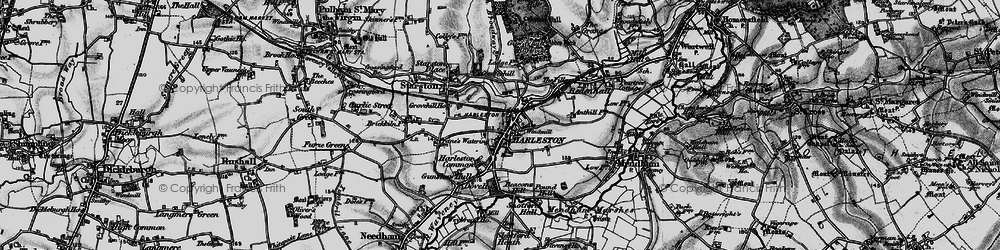 Old map of Anthills in 1898