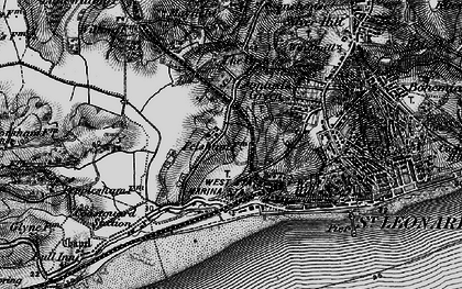 Old map of West St Leonards Sta in 1895