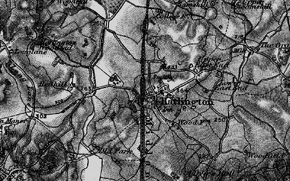 Old map of Harlington in 1896