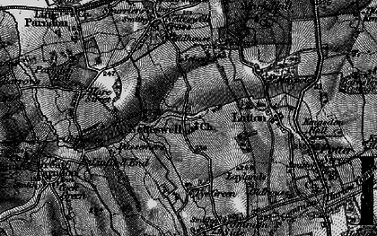Old map of Harlow in 1896