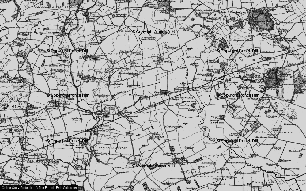 Old Map of Harlthorpe, 1898 in 1898