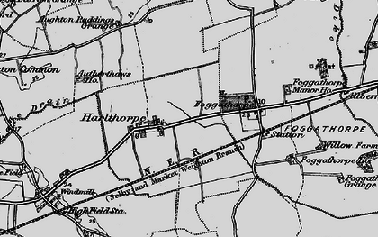 Old map of Aughton Ruddings Grange in 1898