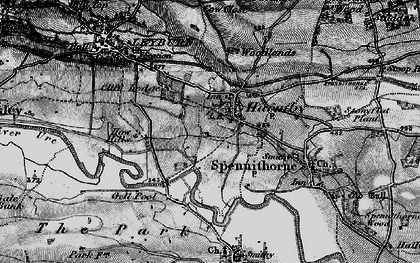 Old map of Harmby in 1897
