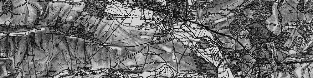Old map of Harnham in 1895