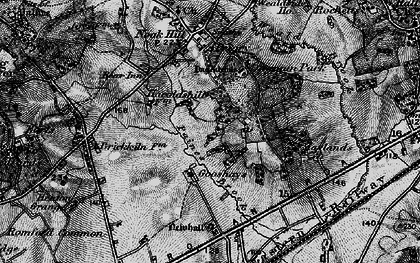 Old map of Harold Hill in 1896