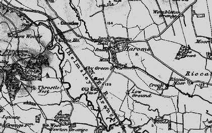 Old map of West Newton Grange in 1898