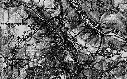 Old map of Harpenden in 1896